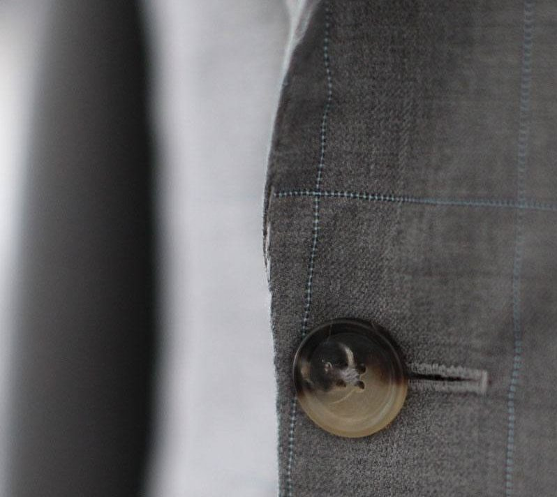 Tailored suit front button