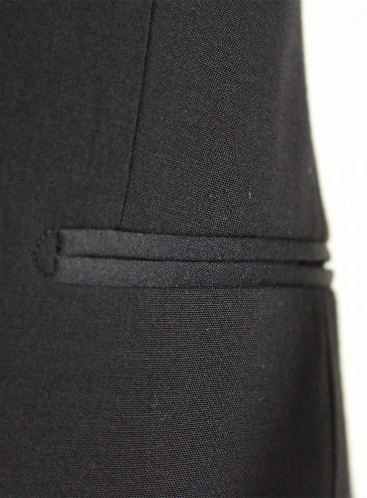 Black wool mohair blend tuxedo suit - Jacket side pocket