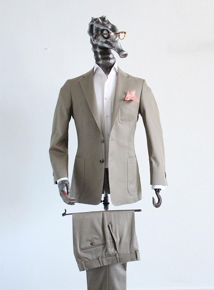 Desert storm cotton gabardine casual suit - Front