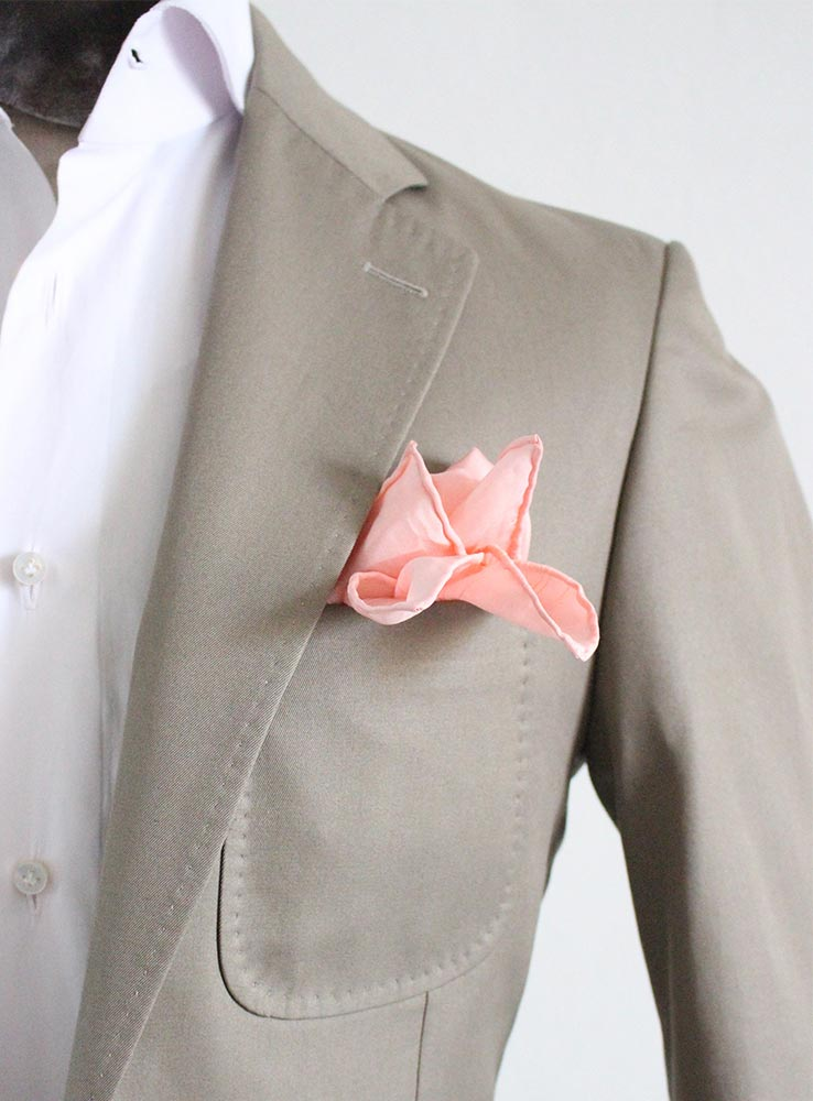 Desert storm cotton gabardine casual suit - Jacket chest patch pocket