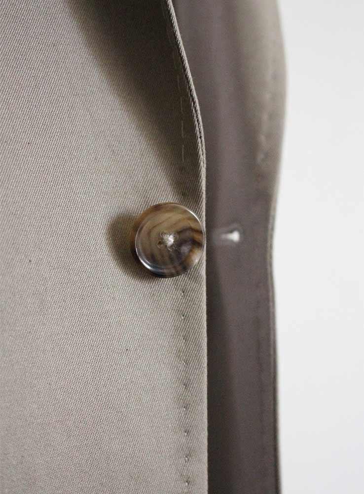 Desert storm cotton gabardine casual suit - Jacket front button