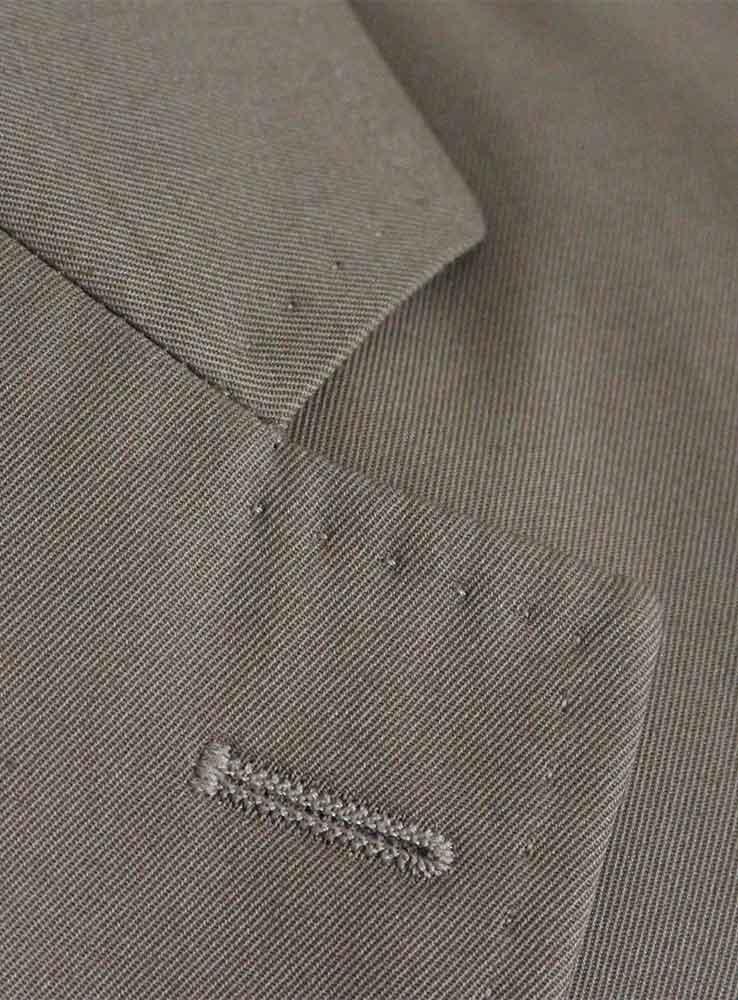 Desert storm cotton gabardine casual suit - Jacket notch lapel
