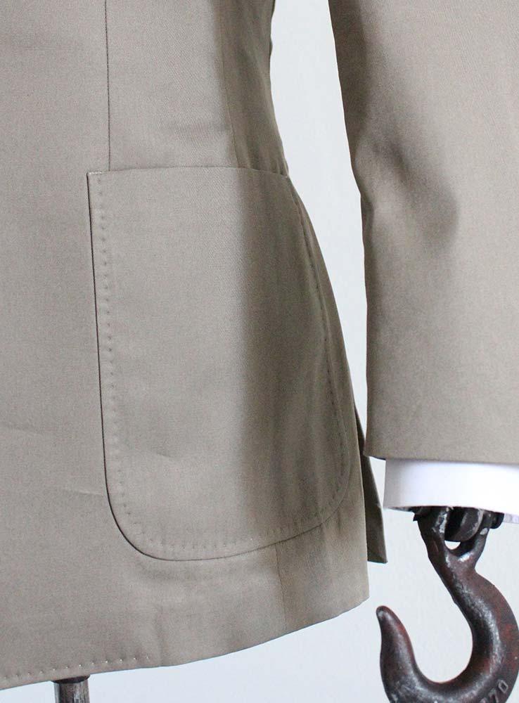 Desert storm cotton gabardine casual suit - Jacket side patch pocket