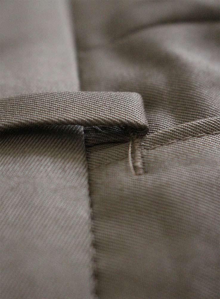 Desert storm cotton gabardine casual suit - Trousers waist belt loops