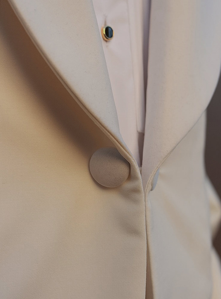 Ivory white wedding jacket - Front button