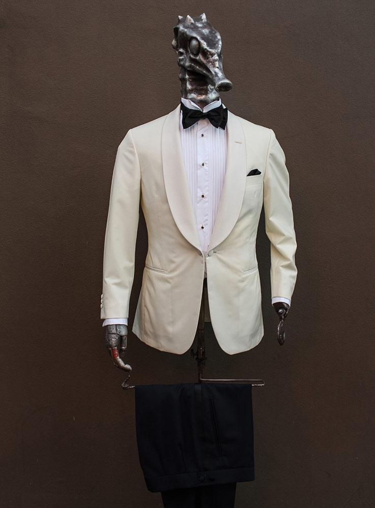 Ivory white wedding jacket - Front