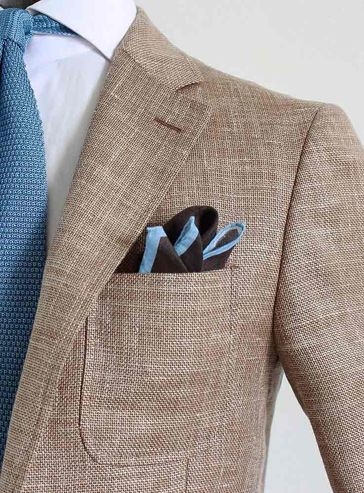 sand hopsack tailor made blazer