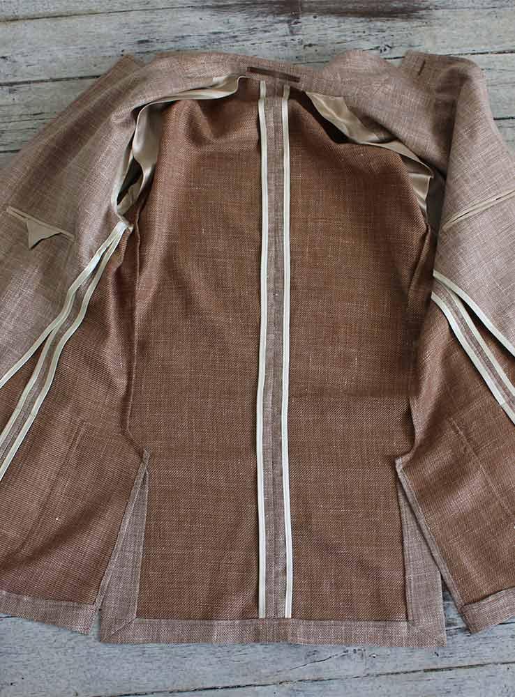 wool linen blazer inside jacket