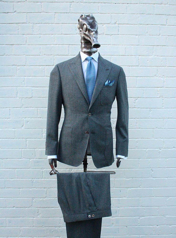 Grey flannel casual suit